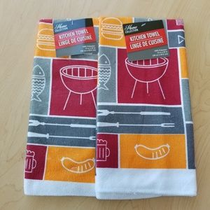 Home Collection Kitchen Towels BBQ Style